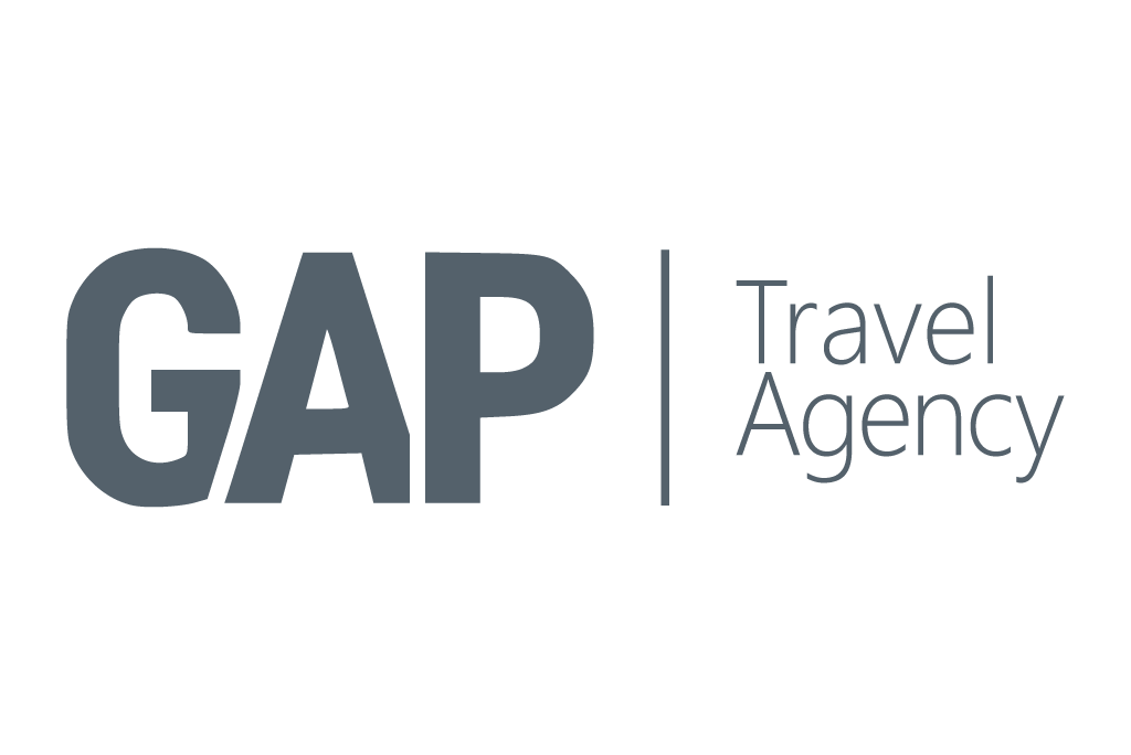 GAP Travel Agency Logo in grey color