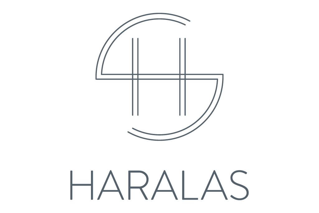 Haralas Logo in grey color