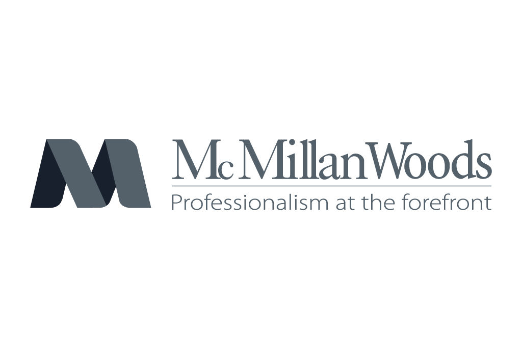 McMillan Woods logo in grey color
