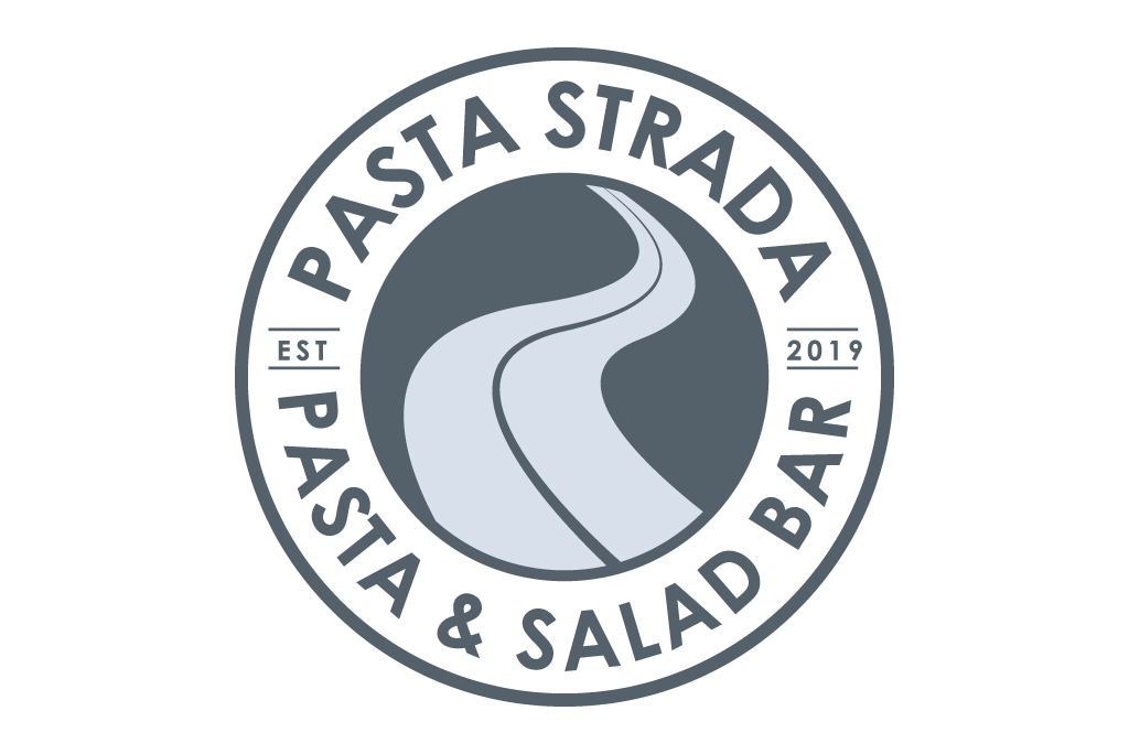Pasta strada logo in grey color
