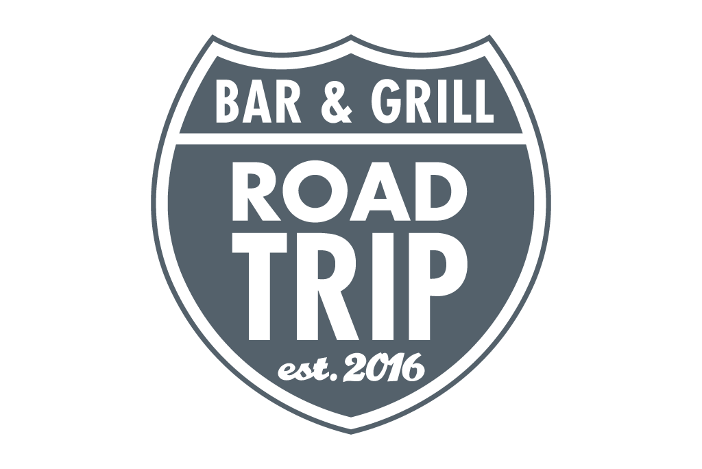 Road Trip Bar & Grill logo in grey color