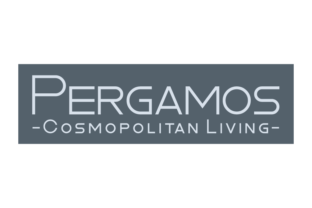 Pergamos logo in grey color