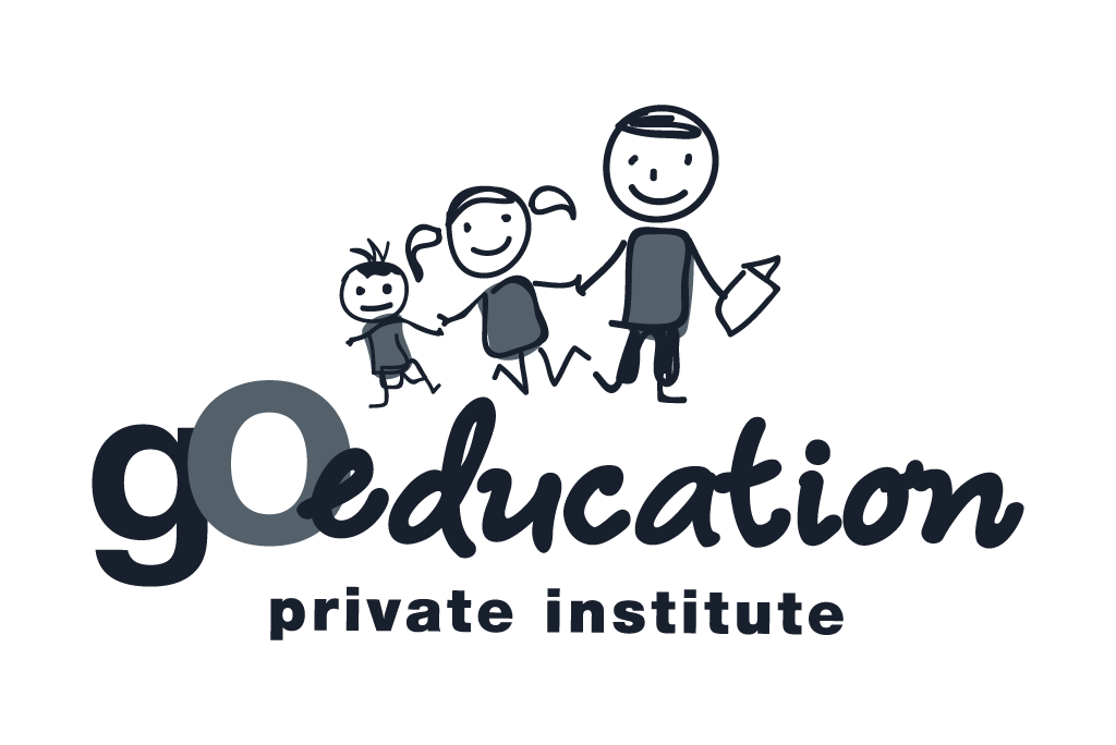 Go education logo in grey color