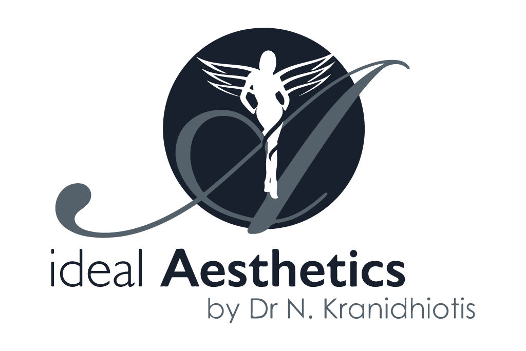 Ideal Aesthetics logo in grey color