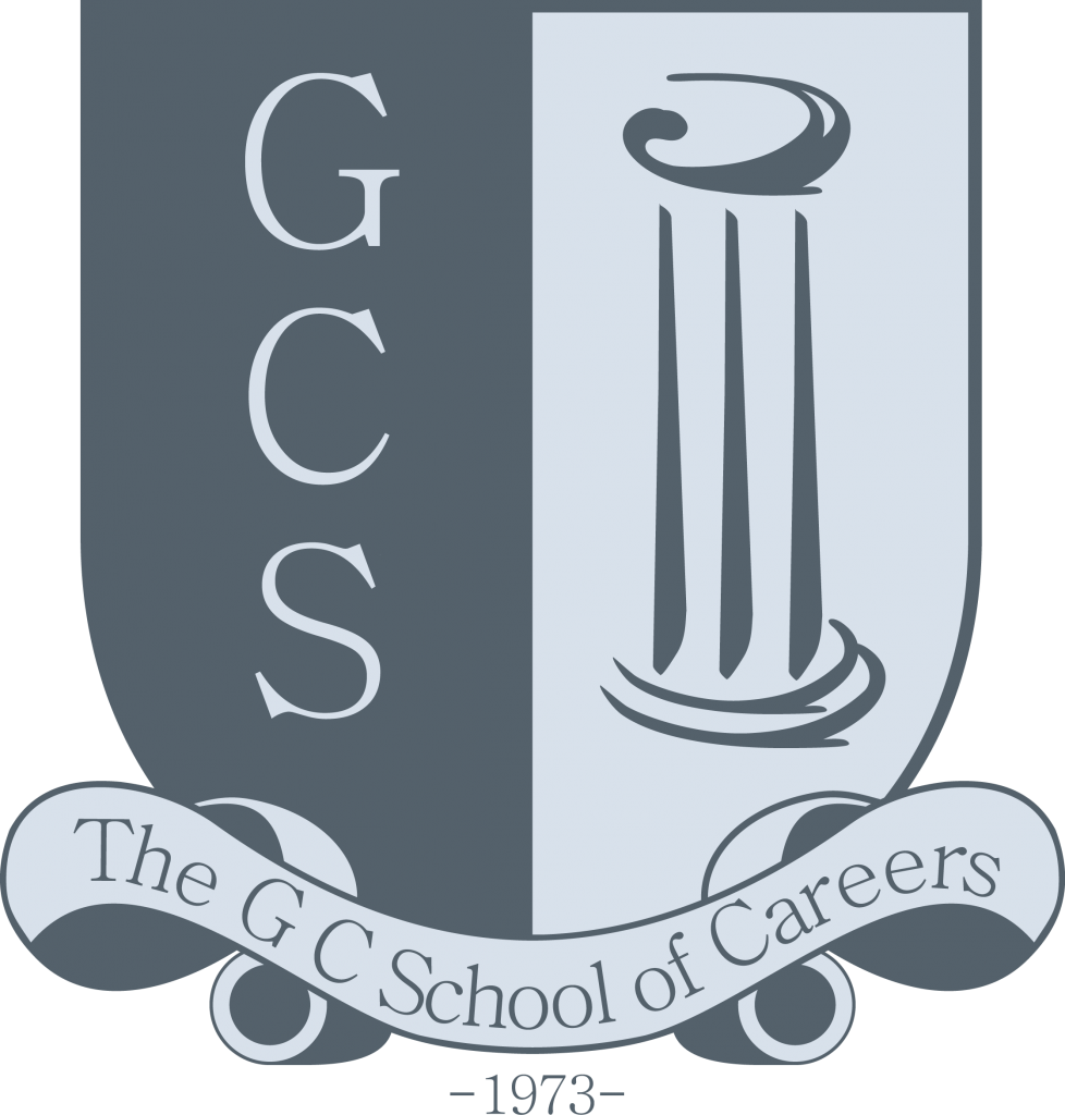 The G. C. School of Careers Logo in grey