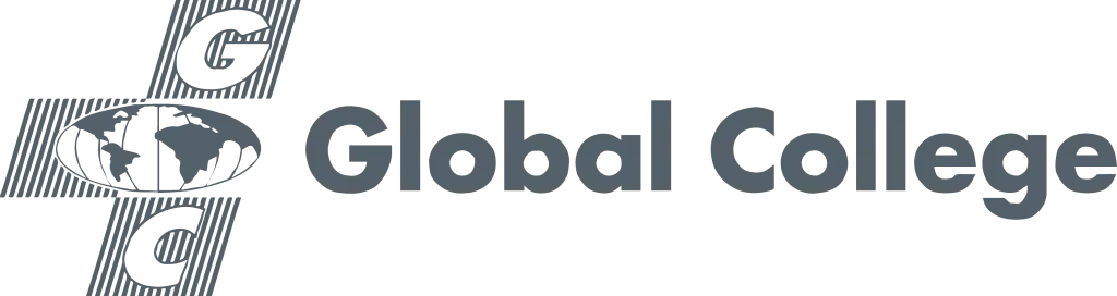 Global College logo in grey