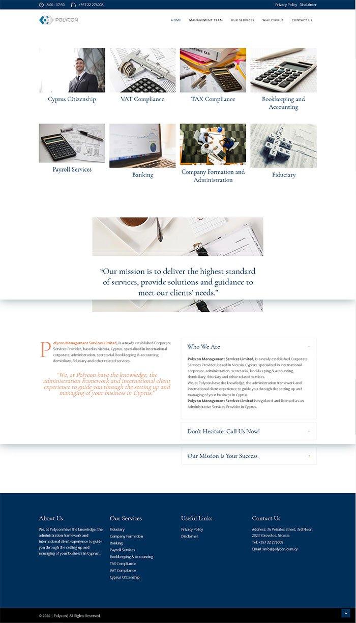 Polycon website mockup