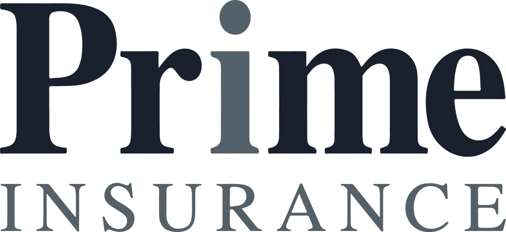 Prime insurance logo in grey