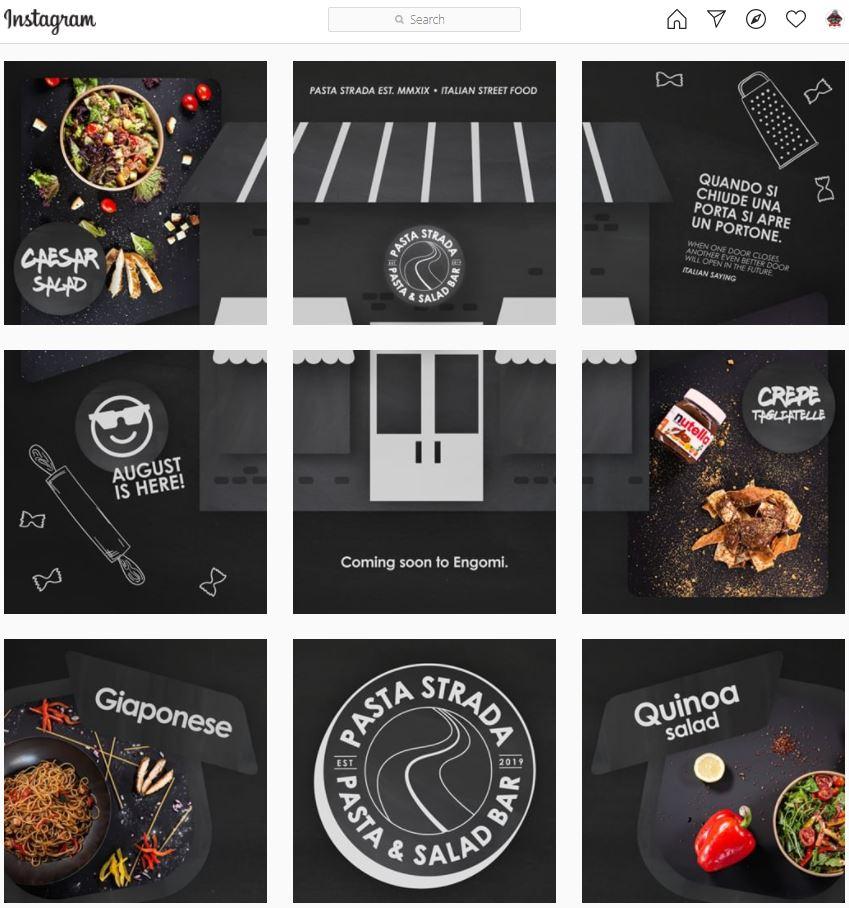 Pasta Strada Instagram